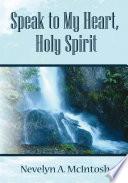 Speak To My Heart Holy Spirit Book PDF