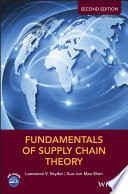 """Fundamentals of Supply Chain Theory"" by Lawrence V. Snyder, Zuo-Jun Max Shen"