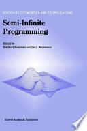 Semi Infinite Programming Book PDF