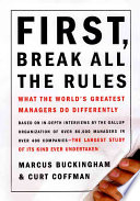 First Break All The Rules Book PDF