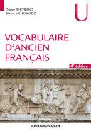 Pdf Vocabulaire d'ancien français - 4e éd. Telecharger