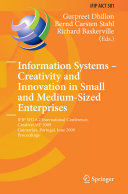Information Systems    Creativity and Innovation in Small and Medium Sized Enterprises