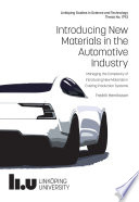 Introducing New Materials in the Automotive Industry