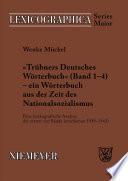 Trübners »Deutsches Wörterbuch« - ein Wörterbuch aus der Zeit des Nationalsozialismus