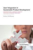 User Integration in Sustainable Product Development: ...
