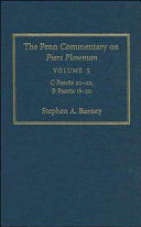 The Penn Commentary on Piers Plowman, Volume 5