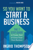So You Want to Start a Business Book PDF