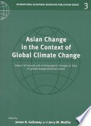 Asian Change In The Context Of Global Climate Change Book PDF