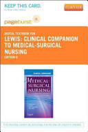 Clinical Companion to Medical Surgical Nursing Pageburst Access Code