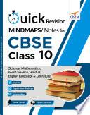 Quick Revision MINDMAPS  NOTES for CBSE Class 10 Science  Mathematics  Social Science  Hindi B   English Language   Literature