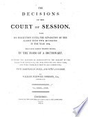 The Decisions of the Court of Session Pdf/ePub eBook
