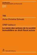 Pdf La vente des actions de la société immobilière en droit fiscal suisse Telecharger