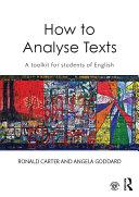 How to Analyse Texts Pdf/ePub eBook