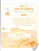 Prostar Nga List of Lights  Radio AIDS and Fog Signals 2006 West Coasts of North and South America  Australia  Tasmania
