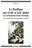 Pdf Le Pacifique aux XVIIIe et XIXe siècle, une confrontation franco-britannique. Telecharger