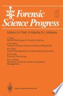 Forensic Science Progress Book