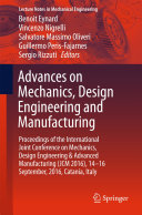 Advances on Mechanics, Design Engineering and Manufacturing