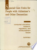 Special Care Units For People With Alzheimer S And Other Dementias
