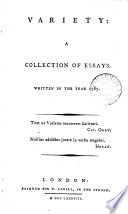 Variety  a Collection of Essays