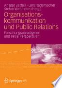 Organisationskommunikation und Public Relations