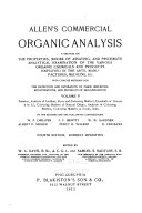 Allen S Commercial Organic Analysis Book PDF