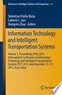 Information Technology and Intelligent Transportation Systems Book