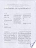 Characterization of an Ellipsoidal Radiometer