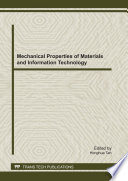 Mechanical Properties of Materials and Information Technology