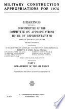 Military Construction Appropriations for 1975