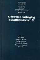 Electronic Packaging Materials Science X  Volume 515