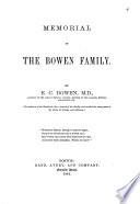 Memorial of the Bowen Family Book