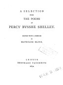 A Selection from the Poems of Percy Bysshe Shelley