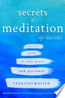 """""""Secrets of Meditation"""" by Davidji"""