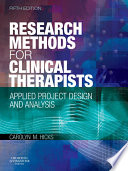 Research Methods for Clinical Therapists E Book Book