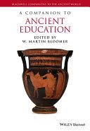 A Companion to Ancient Education Pdf/ePub eBook