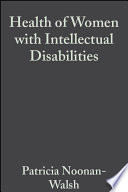Health of Women with Intellectual Disabilities Book