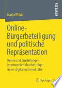 Online-Bürgerbeteiligung und politische Repräsentation