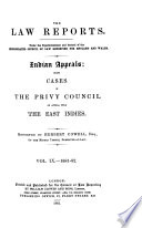 The Law Reports Indian Appeals
