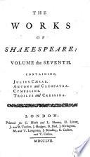 Julius Caesar   Antony and Cleopatra   Cymbeline   Troilus and Cressida Book