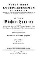 Index locupletissimus librorum qui inde ab anno MDCCL usque ad annum ... in Germania et in terris confinibus prodierunt