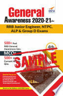 (Free sample) General Awareness 2020-21 for RRB Junior Engineer, NTPC, ALP & Group D Exams 4th Edition