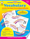 Vocabulary  Grades 2   3