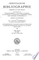 Orientalische Bibliographie