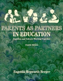 Parents As Partners In Education Book