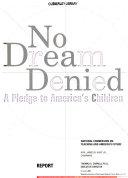 No Dream Denied Book PDF