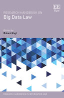 Research Handbook on Big Data Law