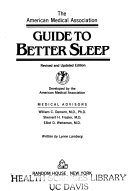 The American Medical Association Guide to Better Sleep Book