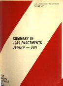 Summary of Enactments