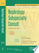 The Washington Manual Nephrology Subspecialty Consult Book PDF