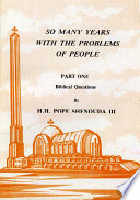 So Many Years with the Problems of People Part 1 Book